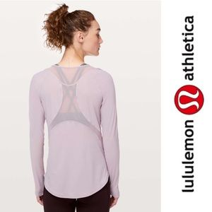 Lululemon Sculpt Long Sleeve Top Powdered Mauve 6